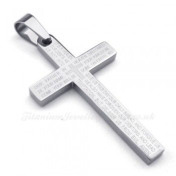 26 best cross titanium pendants images on pinterest titanium scripture titanium cross pendant necklace free chain mozeypictures Choice Image