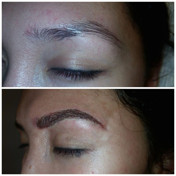 Eyebrow embroidery semi permanent tattoo by pro makeup for Semi permanent tattoo eyebrows