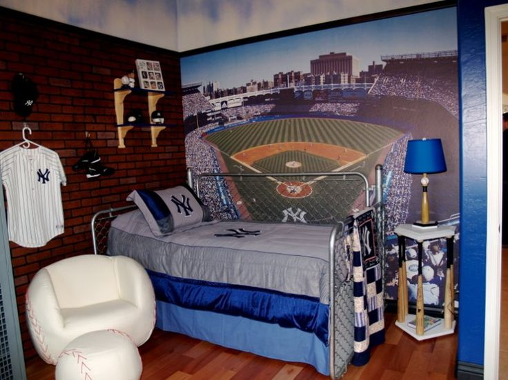 Boys Baseball Room But Instead Of New York Yankees It