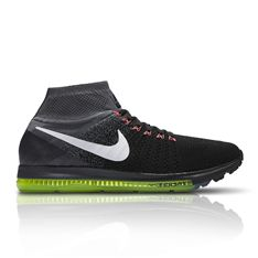 The Nike men's Zoom All Out Flyknit running sneaker delivers natural comfort and flexibility with low-profile cushioning and a breathable knit upper. Flywire technology integrates with the laces to help lock down the foot without weighing you down.