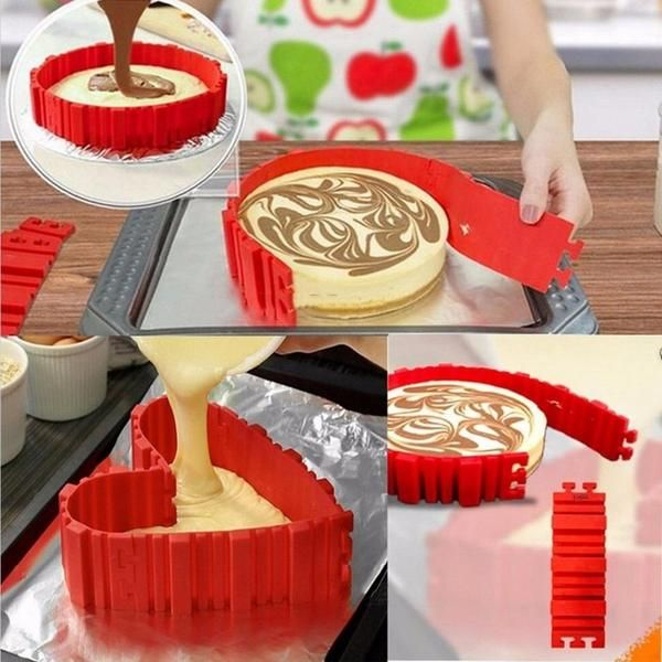 4Pcs/lot Magic Bake Snakes Grade Silicone Bake All Cakes Cake Mould Tools - Free Offer (JUST PAY SHIPPING & HANDLING)