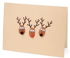 Thumbprint Reindeer | Homemade Christmas Card Ideas | A Homemade Christmas | FamilyFun