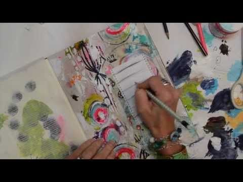 Art Journaling with Roben Marie Smith Watch the Process - Resolution Journal Page - YouTube