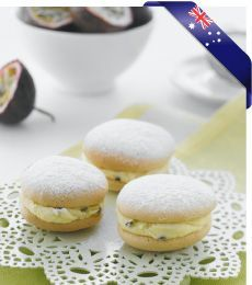 Passionfruit Kisses - These light as a feather passionfruit flavoured cakes are probably something your grandma used to make. Now it's your turn.