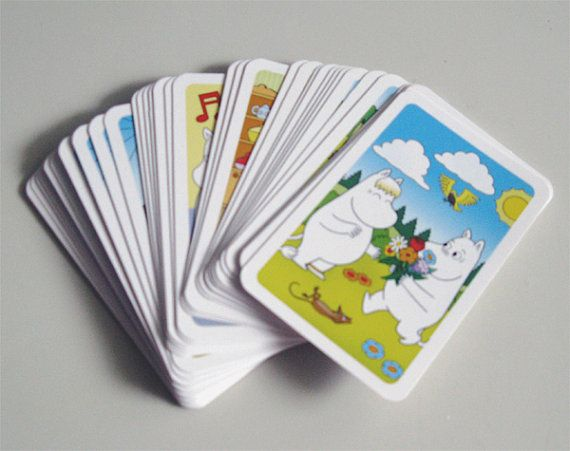Moomin memory game playing cards, authentic & new, pack of 36 cards (full set) - new price 40% OFF