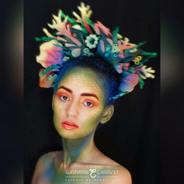 She Yafreili Artistic Make Up  Inspiración Medusa-Arrecife-Verano Diseño, tocado y make Up by Me (facebook Monica Asesoria de Imagen y Mas)