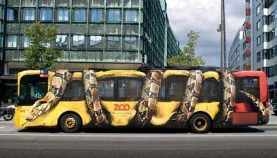 Bus advertising Copenhagen Zoo