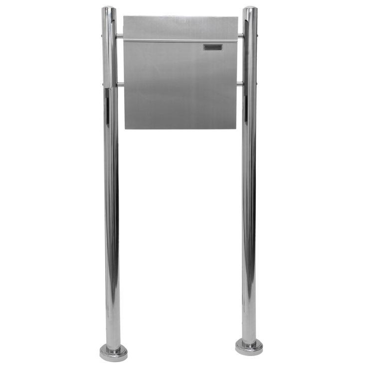 Hochwertiger V2A Edelstahl Standbriefkasten mit Zeitungsfach, 120 cm hoch, Gewicht 5,4kg, Postkasten Briefkasten  #Briefkasten #Modern #Design #Boxes #Mail #Haus #Antik #Stahl #Steel #Garden #Rustic #Rustikal #Mailbox #Metal #Cool #Old #Awesome #Edelstahl #Aluminium #Englisch #Britisch #Postkasten #Standbriefkasten #Wandbriefkasten #Zeitungsrolle