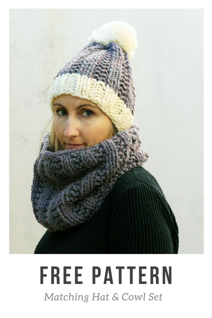 517 best free knitting patterns images on pinterest knit free chunky knitted hat pattern with a matching cowl this super chunky hat and cowl bankloansurffo Images