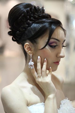 Wedding Hairstyles With Braids And Bangs : 99 best bangs images on pinterest