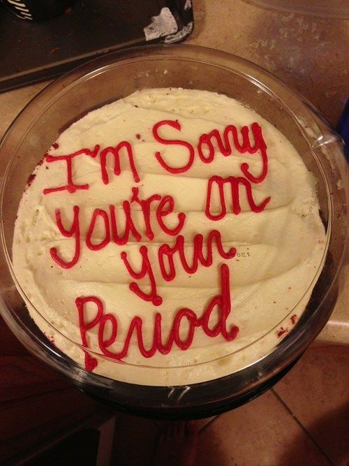 This is a great idea, she loves chocolate cake  when she is on her period.
