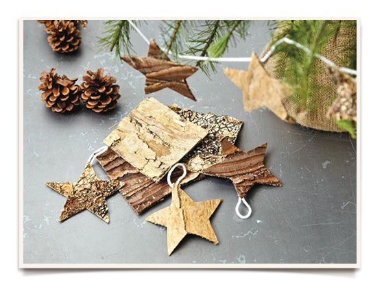 Homemade Ornaments Created by Ginny BranchTrace the shape of a star using