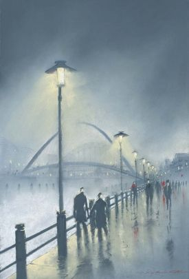 From his collection of new original pastels and limited edition prints The Millennium bridge is visible in the background as people walk along Newcastle Quayside.  Format:  Paper Giclee print on Breathing Colour Elegance Velvet Paper 310gsm  Print size: 47 x 32cm  Mounted size: 57 x 42cm  #Art #Tyne #Newcastle  £200