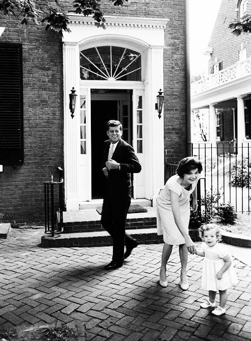 Jackie Kennedy Family: The John F. Kennedy Family At Their Home In Georgetown