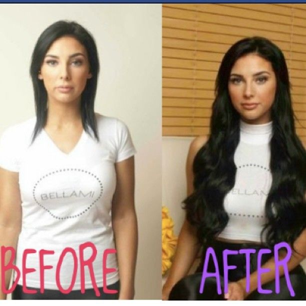 #Bellami hair before and after. Next set of hair after I am done color changing for the 1 millionth time