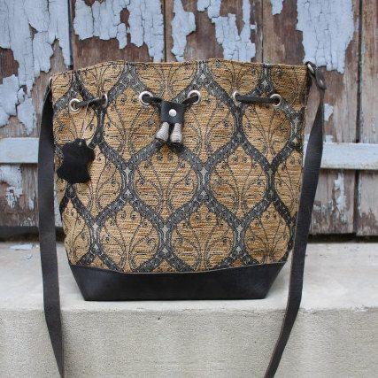 Leather bag women's  Womens Handbag/Bucket bag/Leather by EATHINI
