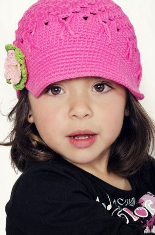 Gabriella modeling her beautiful Smitten Newsboy hat. Absolutely gorgeous!