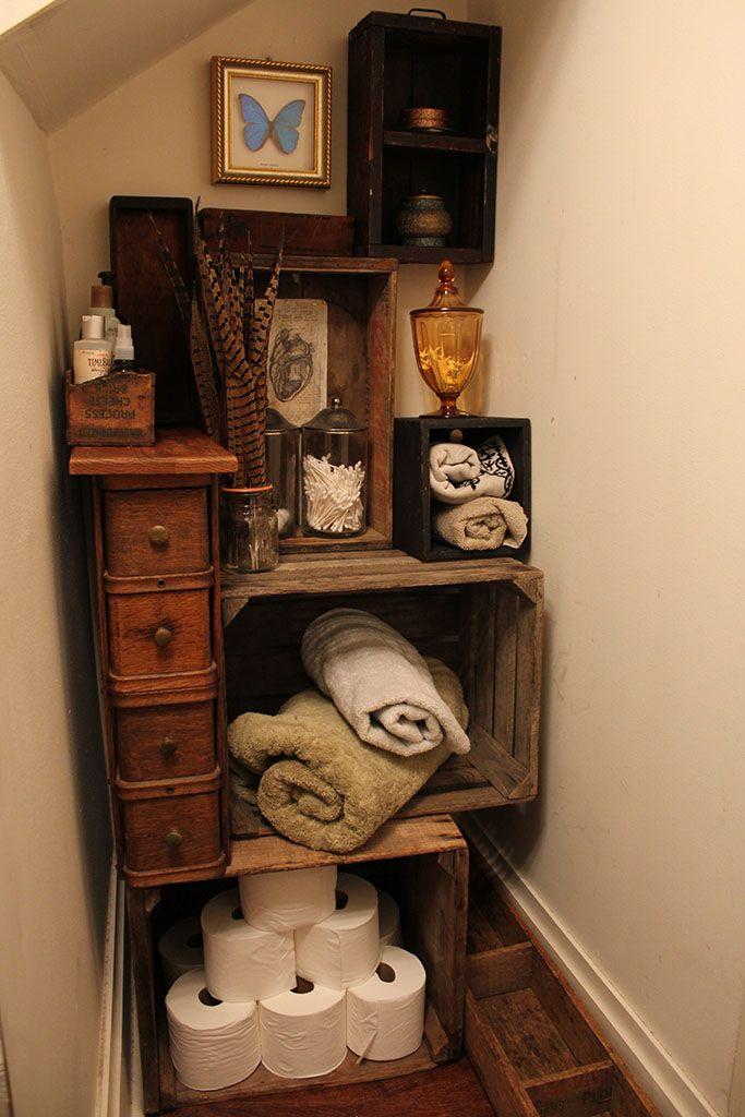 stunning wooden crate storage ideas 15