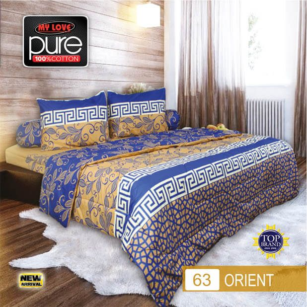Sprei Set (King 180×200) motif Orient Premium Lembut. Takut tidak sesuai Ukuran (kekecilan/kebesaran) ??? Kami beri garansi 30 Hari.
