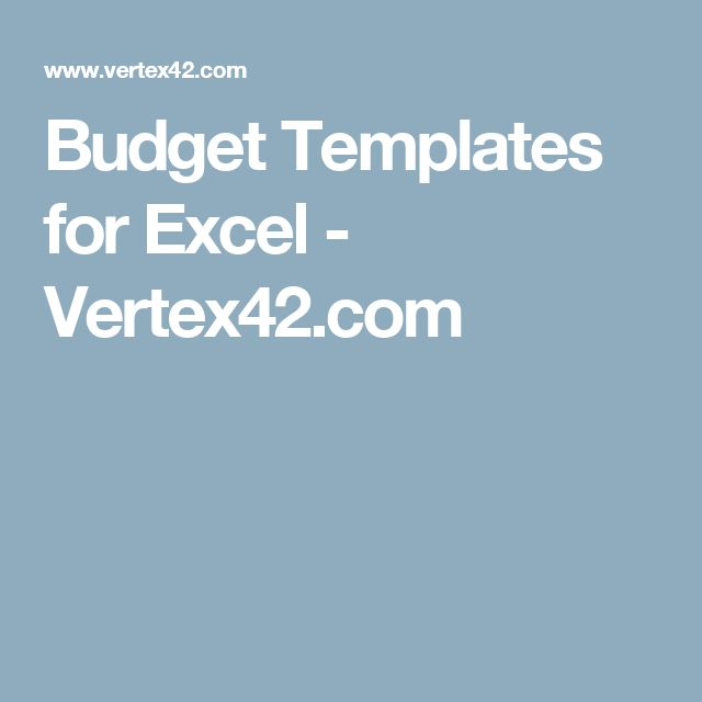 Best 25+ Budget templates ideas on Pinterest Monthly budget - excel budget template