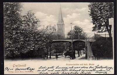 69624 AK Greifswald 1900 Rubenowbrücke Kath. Kirche   eBay