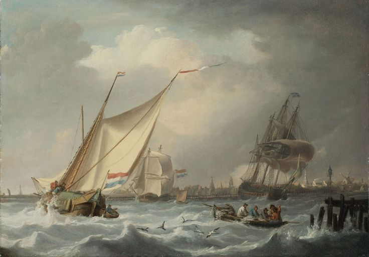Hermanus Koekkoek, SAILING SHIPS IN A STORM, Auction 929 Old Masters, Lot 1549