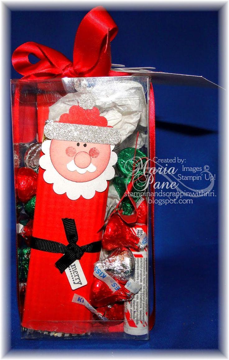 85 best stampin 39 up santa punch art images on pinterest for Secret santa craft ideas