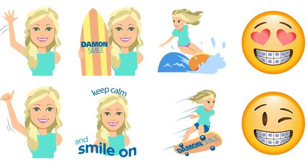 Bethany Hamilton :-) Damon Smile! Emoji Keyboard App, Another Way to Embrace Your Smile.  You can downlad on the App Store or Google Play. #damonsmile #braces #Smile #straightteeth #embraceyoursmile #KeepCalmAndSmileOn