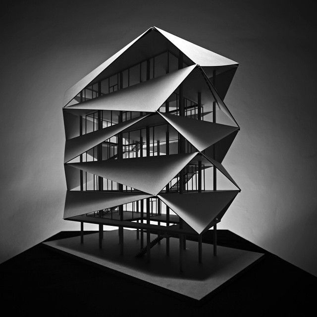 189 best images about models maquetas on pinterest for Architecture origami