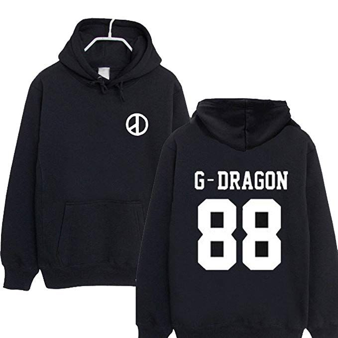 Kpop Bigbang GD G-Dragon Zipper Pullover Hoodie Top Coat Jacket Unisex