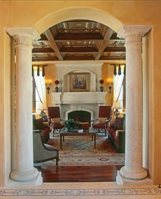Best 25 tuscan column ideas on pinterest tuscan homes for Pictures of columns in living room
