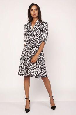 7f5d9357443c Leopard mönstrad klänning | Dam PlusSize | Plus size, Fashion och ...