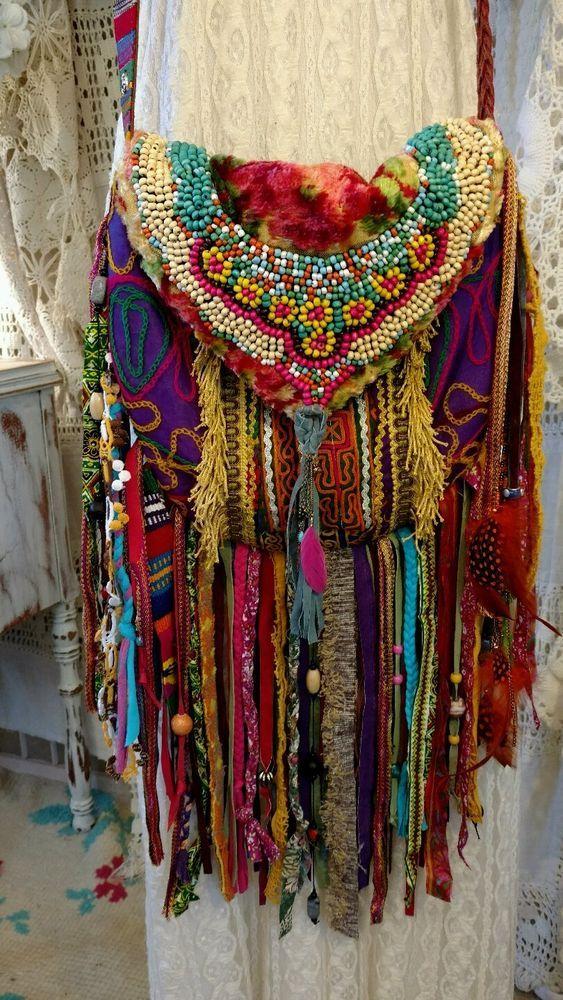 Handmade Fringe Ibiza Festival Cross Fringe Body Bag Gypsy Hippie Boho tmyers #Handmade #MessengerCrossBody