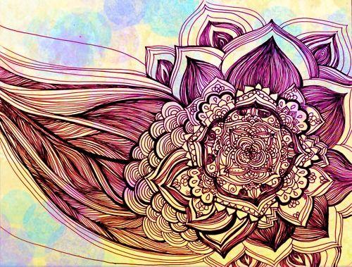 .: Deep Purple, Workout Routines, Artsy Fartsi, Lotus Drawings, 31 Photos, Flower Drawings, Random Artists, Interweb 31, Purple Flower