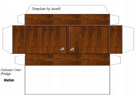 Over fridge kitchen cabinet mini printables sherree for 3d printing kitchen cabinets