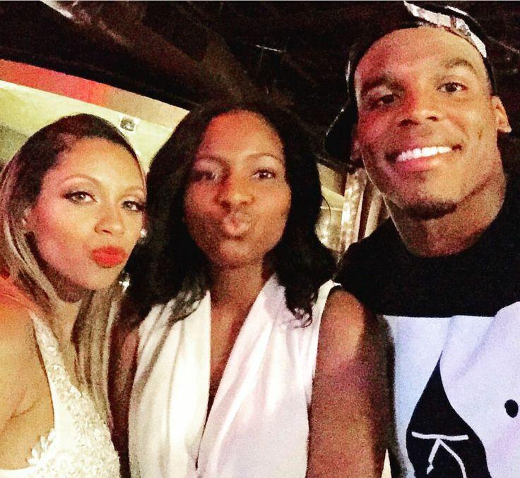 Cam Newton (right) w/ stripper girlfriend (far left) at her baby shower