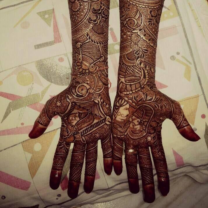 dulha-dulhan-mehandi-designs-for-hands.jpg (713×713)
