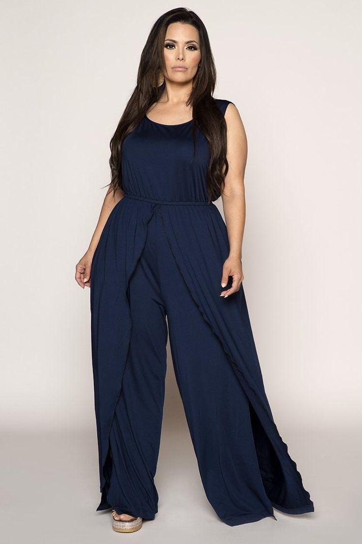 Drape Layer Detail Sleeveless Romper Affiliate Plus Size Fashion