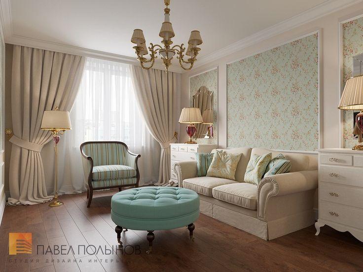 Фото: Комната для гостей - Квартира в классическом стиле, ЖК «Академ-Парк», 136 кв.м.
