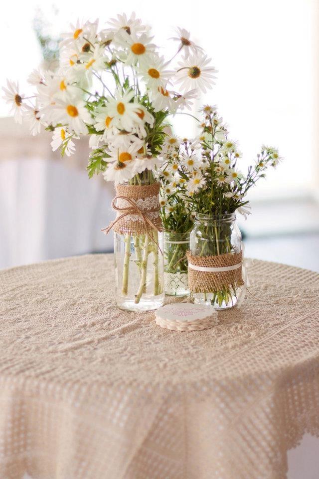 centre pieces, cute, vintage, daisies
