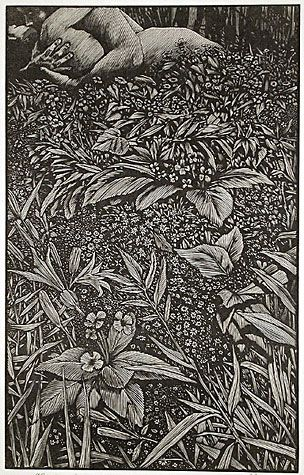 Barry Moser. The Lovers, 1999. Wood engraving on Japanese paper.: