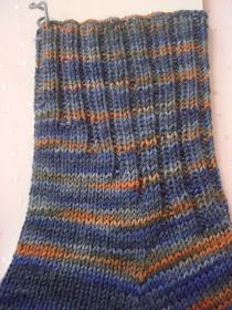 ……… from an already wrapped sock yarn, …