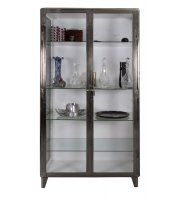 Polished Steel and Glass Medical Display Cupboard