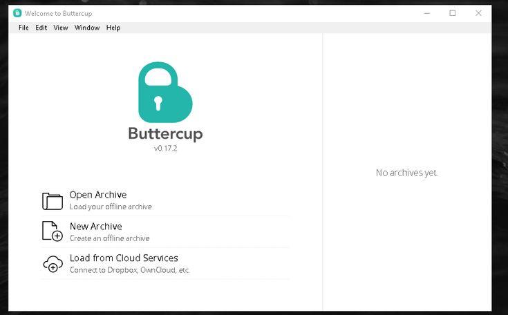 2017-06-11-17_35_03- Buttercup, gestor de contraseñas gratuito, abierto y multiplataforma