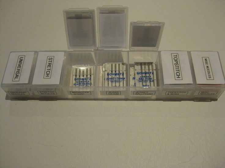 Use a pill organizer for machine needle organization. #ad