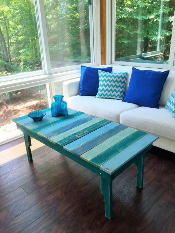Coffee Table from Reclaimed Pallet Wood by ReClaimedPurposed