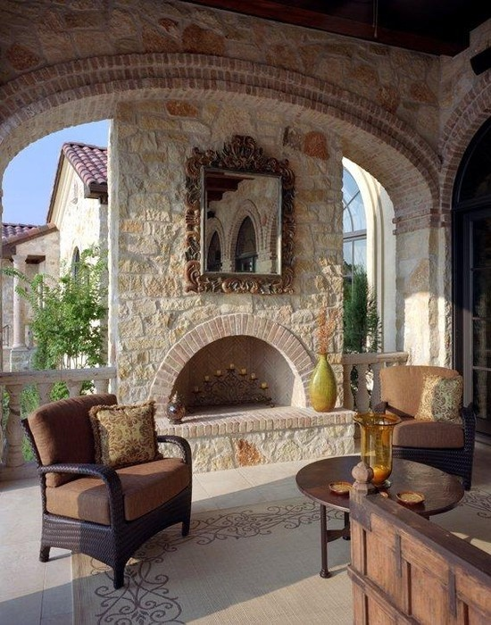 Patio Tuscan Style Cabana Design, Pictures, Remodel, Decor And Ideas   Page  21 | Outdoor Fireplace | Pinterest | Tuscan Style, Cabana And Patios