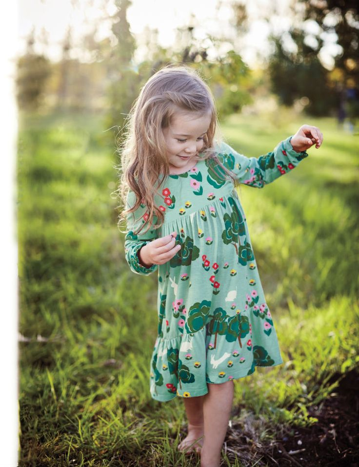 This vintage-inspired dress makes us wish we could travel back in time. The soft, floaty fabric is super-comfortable (and ideal for spinning), while the pretty woodland design makes dressed-up occasions even more fun.