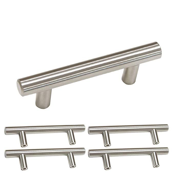 Brushed Nickel Kitchen Cabinet Hardware Drawer Pulls 5 Pack Homdiy Hd201sn 2 5 In Hole Centers Dres Kitchen Drawer Pulls Cabinet Hardware Pulls Cabinet Handles