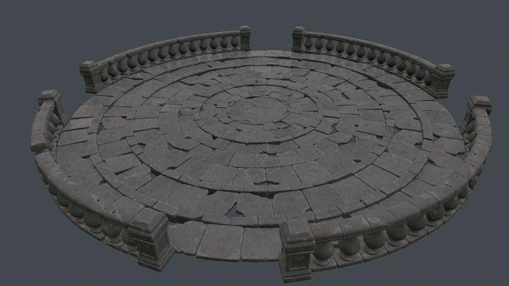 Circular floor structure , Ildar Shaim on ArtStation at https://www.artstation.com/artwork/DOwG0
